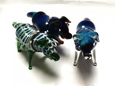 Blue Dog Animal Pipes