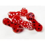 3.95IN. Red Frit and Dot  HP #16