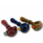 Plus 5 IN Assorted Frit with Mushroom Knocker HandPipe