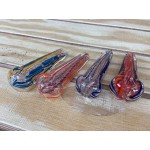 4.5 Inches rectangle shape assorted color twisting  Hand Pipe.
