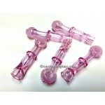 Pink with Mouth Frit One Hitter #19