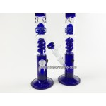 15IN. 2 Perc Blues Water Pipe #32