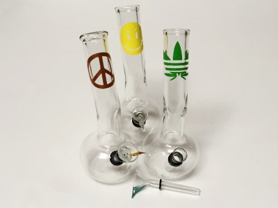 8IN Bend Glass Water Pipe